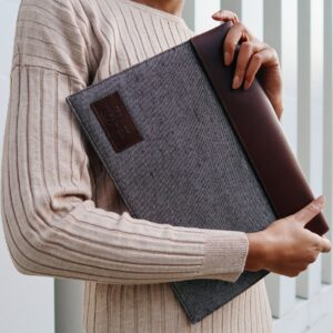 Housse pour ordinateur portable Noir/Marron